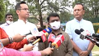 Assam-Mizoram border dispute: Gaurav Gogoi addresses media at Vijay Chowk