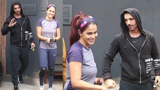 John abraham and Genelia deshmukh seen together after long time outside gym