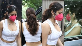 Sridevi Daughter Jhanvi kapoor Showing Her Bold Look Snapped outside GYM