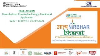 Panel Session - Decentralised Renewable Energy: Livelihood Application
