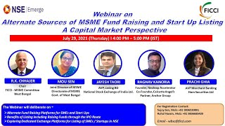 Alternate Sources of MSME Fund-Raising and Start-up Listing : A Capital Market Perspective