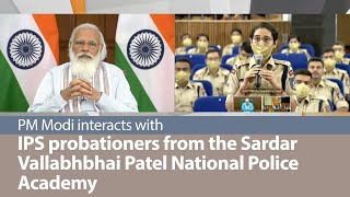 PM Modi interacts with IPS probationers from the Sardar Vallabhbhai Patel National Police Academy
