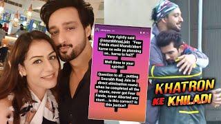 Husband Sourabh Raaj Jain Ke UNFAIR Eviction Par Bhadki Wife | Khatron Ke Khiladi 11