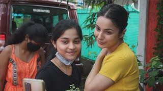 Shehnaaz Gill Spotted At Mukesh Chabbra Office At Versova