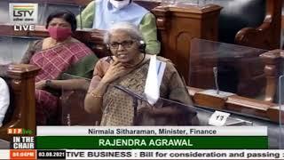 Smt. Nirmala Sitharaman  introduces The Tribunals Reforms Bill, 2021 in Lok Sabha: 03.08.2021