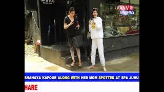 SHANAYA KAPOOR ALONG WITH HER MOM MAHEEP KAPOOR SPOTTED AT TIP & AND TOE NAIL SPA JUHU