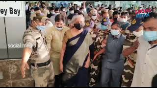 finance minister Nirmala sitharaman at Visakhapatnam airport   social media live