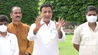 Special media Byte at Vijay Chowk by Shri Randeep Singh Surjewala
