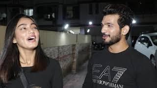 Arjun Bijlani & Sana Makbul Spotted At Bandra