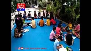 દામનગર મોર્ડન ગ્રીન તાલુકા શાળાના શિક્ષકો દ્વારા શેરીઓમાં શિક્ષણ