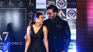 Lovely Couple Aly Goni And Jasmin Bhasin At International Iconic Awards Season 7