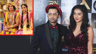 Radha Krishna Cast Mallika And Sumedh At International Iconic Awards Season 7
