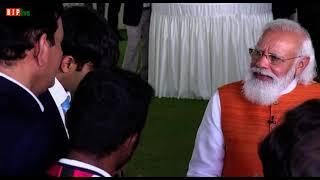 PM Modi keeps his promise, shares choorma with gold medalist Neeraj Chopra