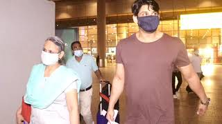 Sidharth Shukla & Family Spotted At Airport Arrived