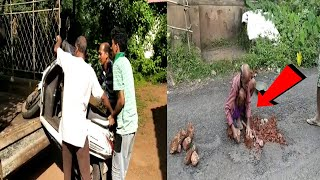 Mother, daughter fall off bike due to potholes in Pernem! Shifted to hospital