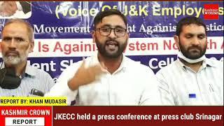 JKECC held a press conference at press club Srinagar