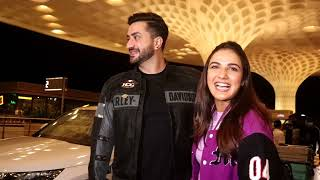 Aly Goni And Jasmin Spotted At Airport Arrived
