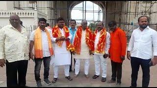 Bandi Sanjay Ki Yatra Niklegi Charminar Se   BJP Leaders At Charminar   Speaks To Media   SACH NEWS