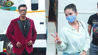 Bigg Boss OTT Sunday Ka Vaar   Karan Johar And Sunny Leone Behind The Scenes Spotted