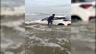 Driving on Morjim beach has cost this youth dearly! WATCH Video