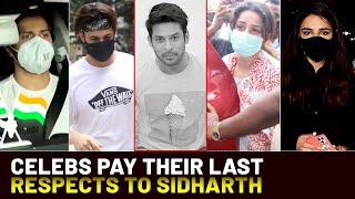 RIP Sidharth Shukla: Shehnaaz Gill, friends and family bid an emotional farewell