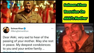 Salman Khan's Emotional Reaction On Akshay Kumar's Mother