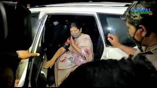 Megastar Chiru Wife Surekha Konidala family members visited Sai Dharam Tej | social media live