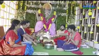 KCR and his wife Smt Shobha performed special Pooja | social media live