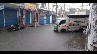 दिल्ली में सुबह से तेज बारिश जारी, North Delhi Wazirabad में प्रशासन की पोल खुली, Delhi Govt., MCD