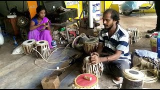For past 34 years this family has been coming to Goa just before Ganesh to repair musical instrument
