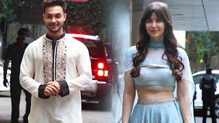 Ganpati Visarjan Ke Liye Sohail Ke Ghar Pahunche Aayush Sharma Aur Arbaaz Khan Ki Girlfriend Georgia