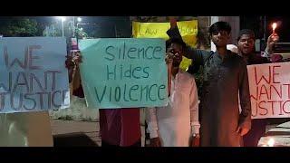 Hyderabad Mein Hui Massom Bachchi Ke Saat Vardaat Ko Lekar Naujawan Ne Kiya Ehtejaj | Nampally |