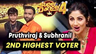Super Dancer 4 | Pruthviraj Aur Subrahnil SECOND HIGHEST Voter, Super 10 Me Entry