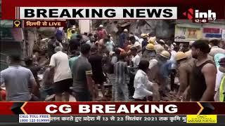 Delhi के सब्जी मंडी में 5 मंजिला इमारत गिरी, मलबे में कई लोगों के दबे होने की आशंका