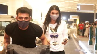 Pavitra Punia And Eijaz Khan Spotted At Airport Departure