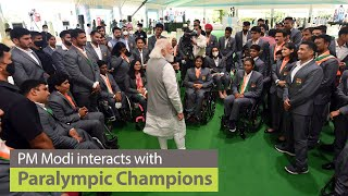PM Modi interacts with Paralympic Champions | PMO