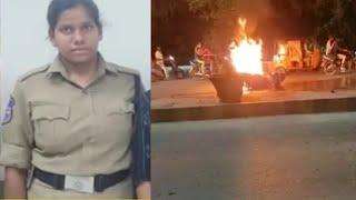 Lady Constable Ki Running Scooty Par Lagi Aag | Hyderabad Moula Ali Bridge | SACH NEWS |