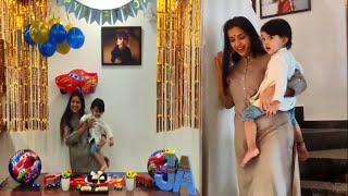 Maja Talkies Swetha Changappa Son Jiyaan Birthday Celebration | Swetha Changappa