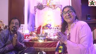 SocialWorker Pradeep Jain & Sadaf Shaikh Did Ganpati Pooja And Distributes 5L Oil To Media Personals