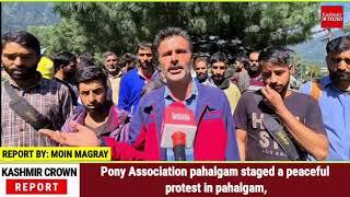 Pony Association pahalgam staged a peaceful protest in Pahalgam