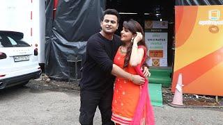 Sanket Bhosle & Suganda Mishra For Comedy Show Shoot In Powai