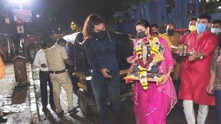 Khatron Ke Khiladi 11 Fame Shweta Tiwari Ganpati Visarjan