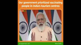 Our government prioritized vaccinating people in India's tourism centres