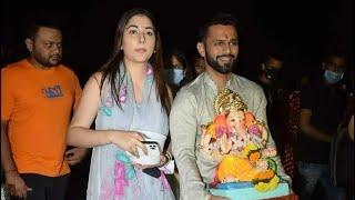Rahul Vaidya & Disha Parmar Ganpati Visarjan 2021