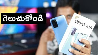 OPPO A16 Unboxing and Quick review Telugu