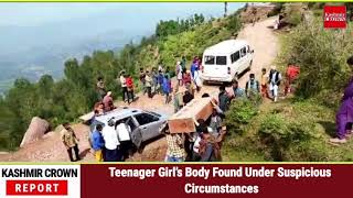 Teenager Girl's Body Found Under Suspicious Circumstances