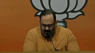 Press Conference by Shri Rajeev Chandrasekhar at BJP Head Office, New Delhi.