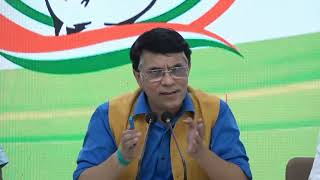 Congress Party Briefing by Pawan Khera at AICC HQ.