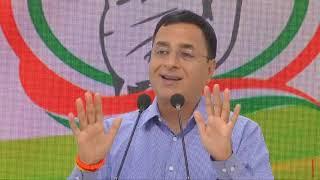 Congress Party Media Briefing by Shri Randeep Singh Surjewala at AICC HQ