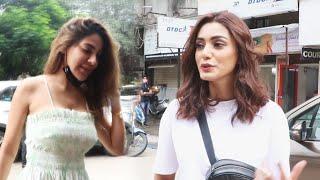 Khatron Ke Khiladi 11 Fame Sana Makbul & Nikki Tamboli Spotted At Kartik Complex Andheri